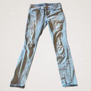 Levi's Distressed Jeans Light Wash Skinny 10/30